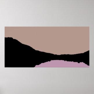 Whistler Lake Abstract Poster