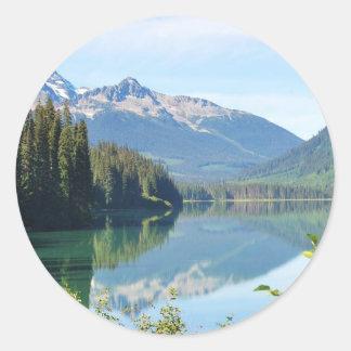 Whistler Lake Classic Round Sticker