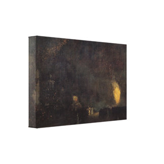 Whistler - Nocturne, Black and Gold, The Fire Whee Canvas Print