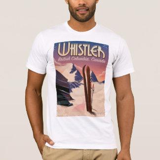 Whistler,Vancouver, British Columbia Ski poster T-Shirt