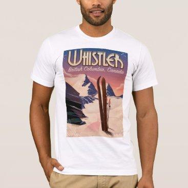 bartonleclaydesign Whistler,Vancouver, British Columbia Ski poster T-Shirt