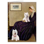 Whistlers Mom - Westies 3 and 11 Greeting Cards