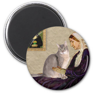 Whistlers Mother - Abyssinian (blue 21) Magnet