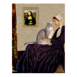 Whistlers Mother - Abyssinian (blue 21) Postcard