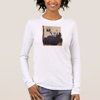 Whistlers Mother - Blue Smoke Persian Long Sleeve T-Shirt
