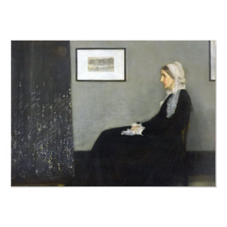 Whistler's Mother by James Abbott McNeill Whistler 5x7 Paper Invitation Card