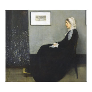 Whistler's Mother by James Abbott McNeill Whistler Canvas Print