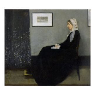 Whistler's Mother by James Abbott McNeill Whistler Posters