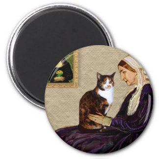 Whistlers Mother - Calico cat Magnet