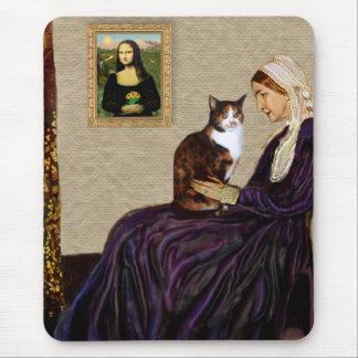 Whistlers Mother - Calico cat Mouse Pad