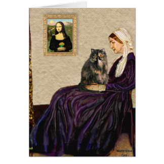 Whistler's Mother - Calico Persian cat Card