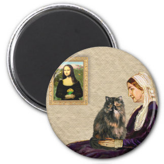 Whistler's Mother - Calico Persian cat Magnet