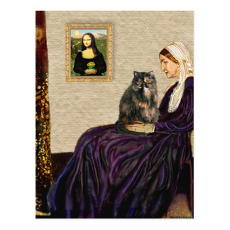 Whistler's Mother - Calico Persian cat Postcard