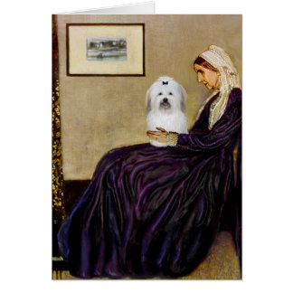 Whistlers Mother - Coton de Tulear 2 Card