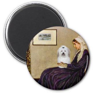 Whistlers Mother - Coton de Tulear 2 Fridge Magnets