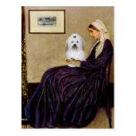 Whistlers Mother - Coton de Tulear 2 Postcards