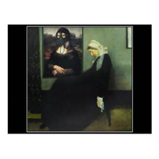 Whistler's Mother Got Gassed - by Mona Lisa? Postcard