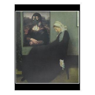Whistler's Mother got Gassed Postcard