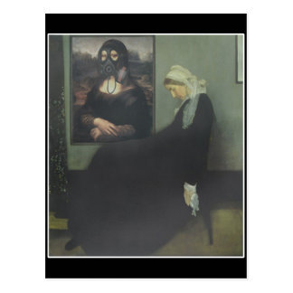 Whistler's Mother got Gassed Postcard