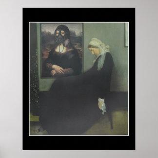 Whistler's Mother got Gassed Poster