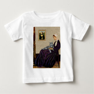 Whistlers Mother - Grey cat Baby T-Shirt
