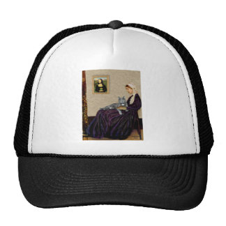 Whistlers Mother - Grey cat Mesh Hats