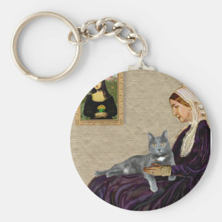Whistlers Mother - Grey cat Keychain