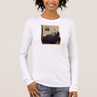 Whistlers Mother - Grey cat Long Sleeve T-Shirt
