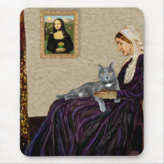 Whistlers Mother - Grey cat Mouse Pad
