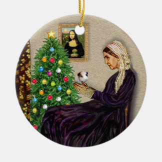 Whistlers Mother & her Guinea Pig Double-Sided Ceramic Round Christmas Ornament