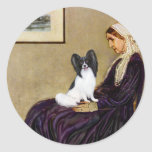 Whistlers Mother - Papillon 1 Classic Round Sticker