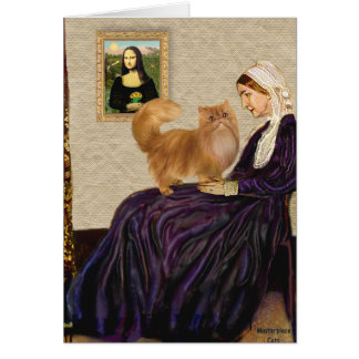 Whistlers Mother - Red Persian cat Card