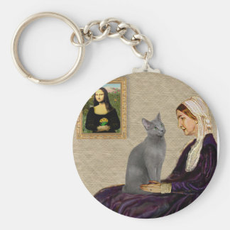 Whistlers Mother - Russian Blue cat Keychain