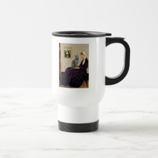 Whistlers Mother - Russian Blue cat Travel Mug