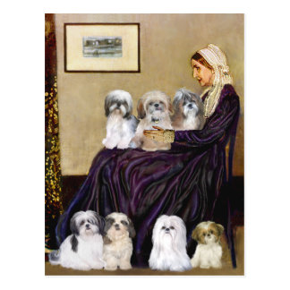 Whistlers Mother -  Shih Tzus (seven) Postcard