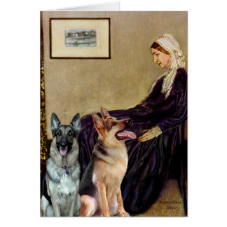 Whistlers Mother - Two German Shepherds Card