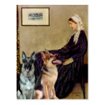 Whistlers Mother - Two German Shepherds Postcards