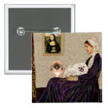 Whistlers Mother - TwoPekingese Pinback Button