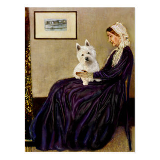 Whistlers Mother - Westie 1 Postcard