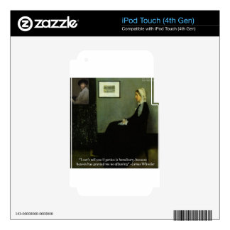 Whistlers Mother & Whistler & Quote Elegant Gifts Skins For iPod Touch 4G