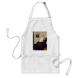 Whistlers Mother - White Persian cat Adult Apron
