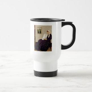 Whistlers Mother - White Persian cat Travel Mug