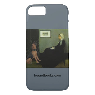 Whistler's Mother With Wimsey the Bloodhound iPhone 7 Case