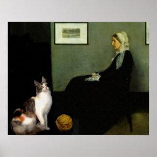 Whistler's Mother's Cat Poster