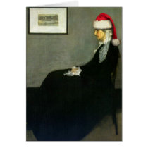 Whistler's Santa Greeting Card