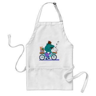 Whistling bicycle rider adult apron