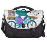 Whistling bicycle rider computer bag