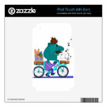 Whistling bicycle rider iPod touch 4G skins