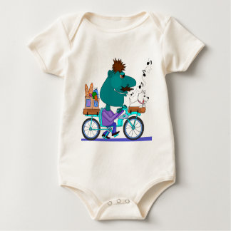 Whistling bicycle rider romper