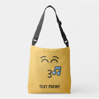 Whistling Face with Smiling Eyes Crossbody Bag